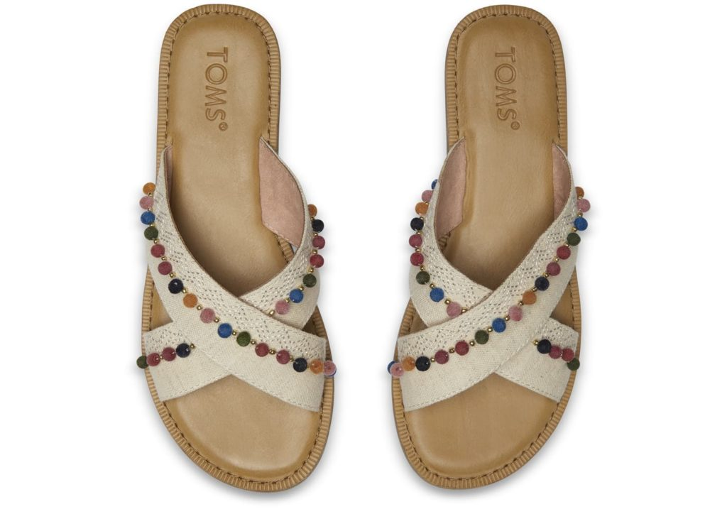 Toms Hemp Pom Poms Sandals