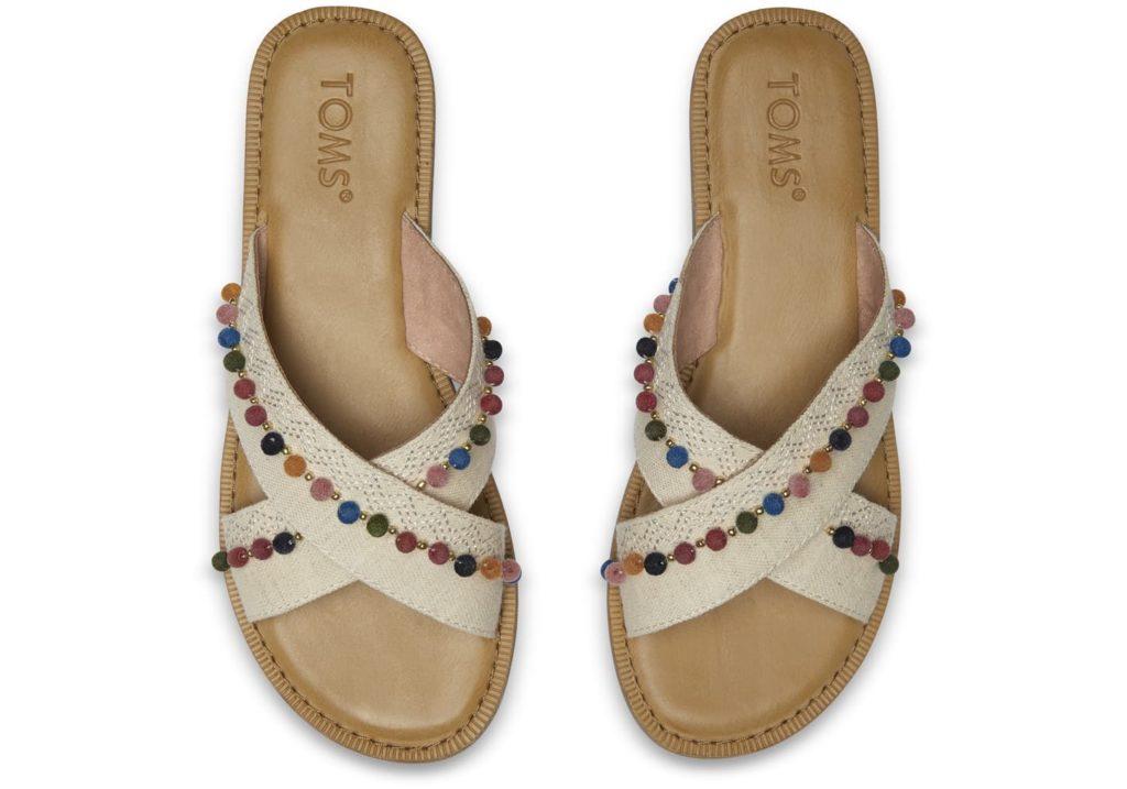 Toms Hemp Pom Poms Sandals