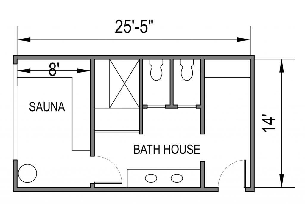 Bath House 0 Floor Plan
