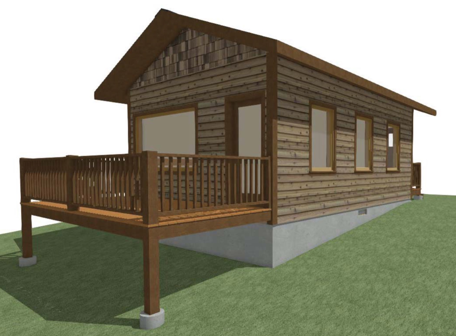 Bath House Rendering by Montgomery Building Design LLC