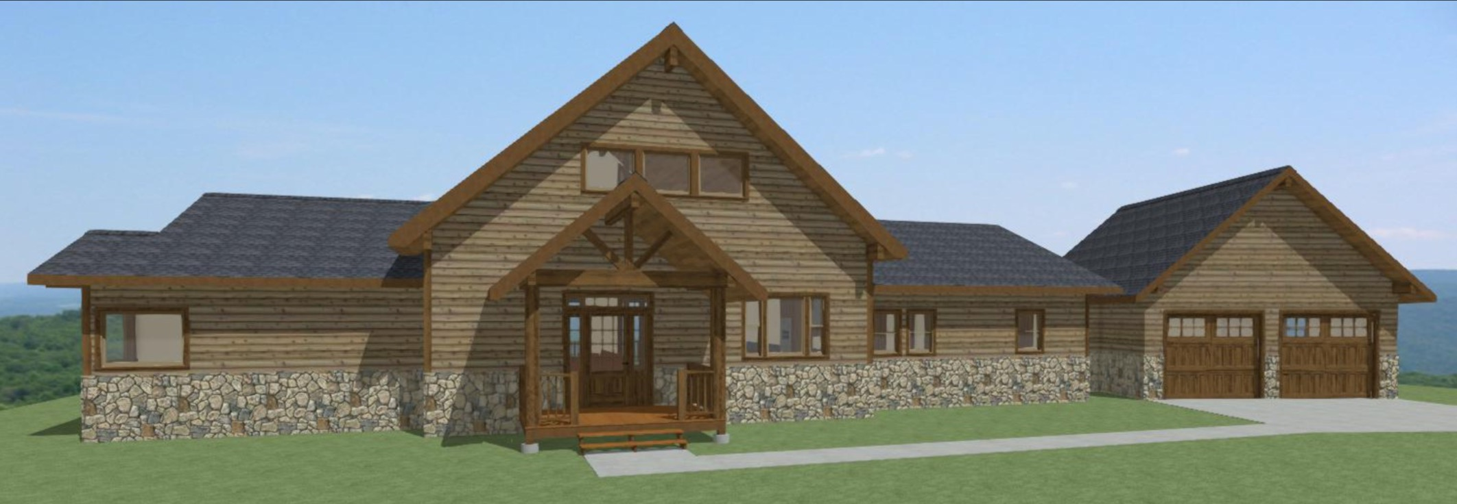Main House Rendering by Montgomery Building Design LLC