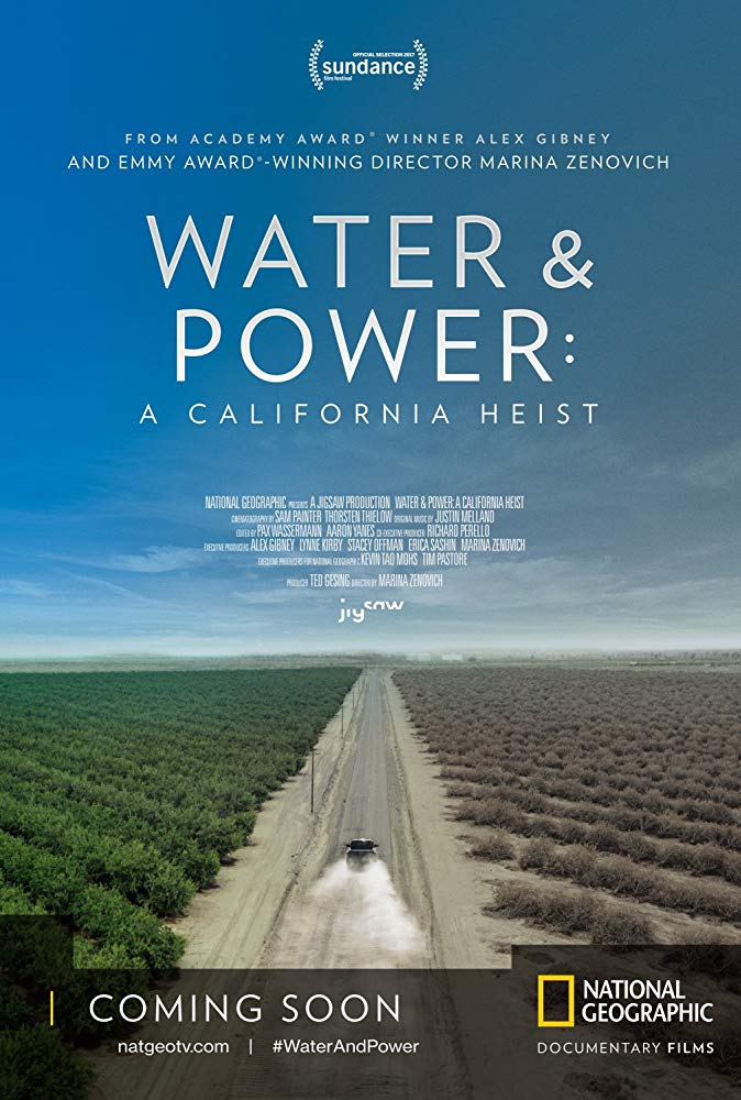 water and power CA heist-poster