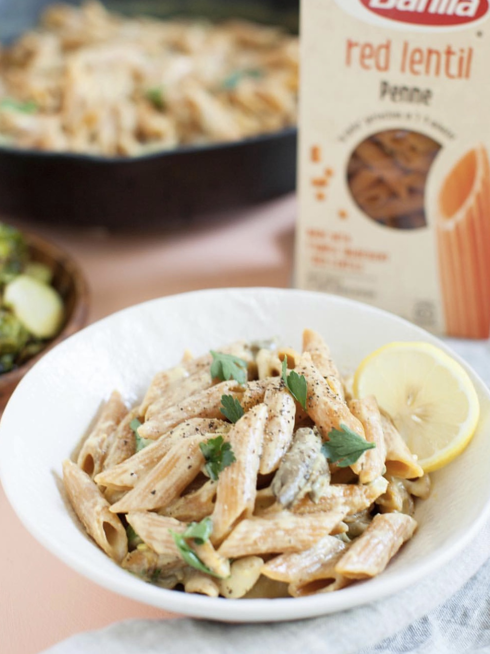Red Lentil Pasta. Image via @sweetpotatosoul on Instagram